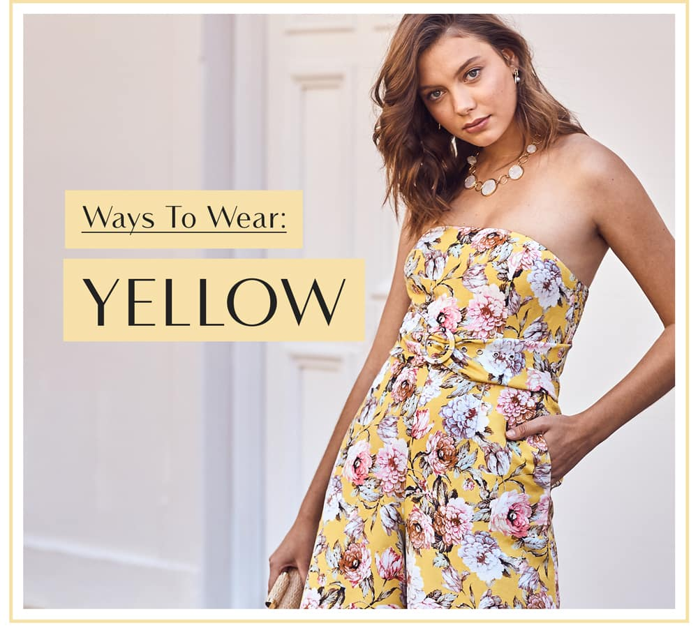 Ways To Wear: Yellow