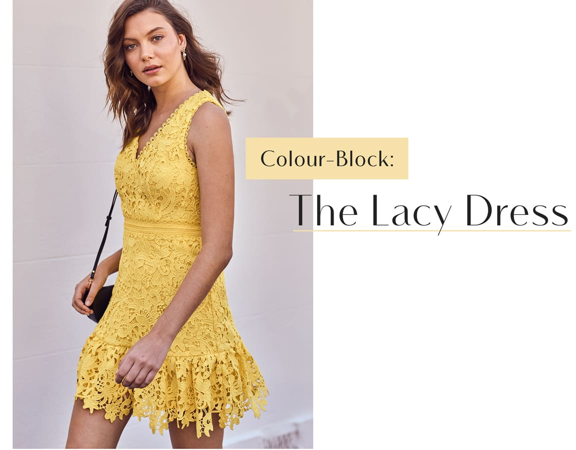 Colour Block: The Lacy Dress