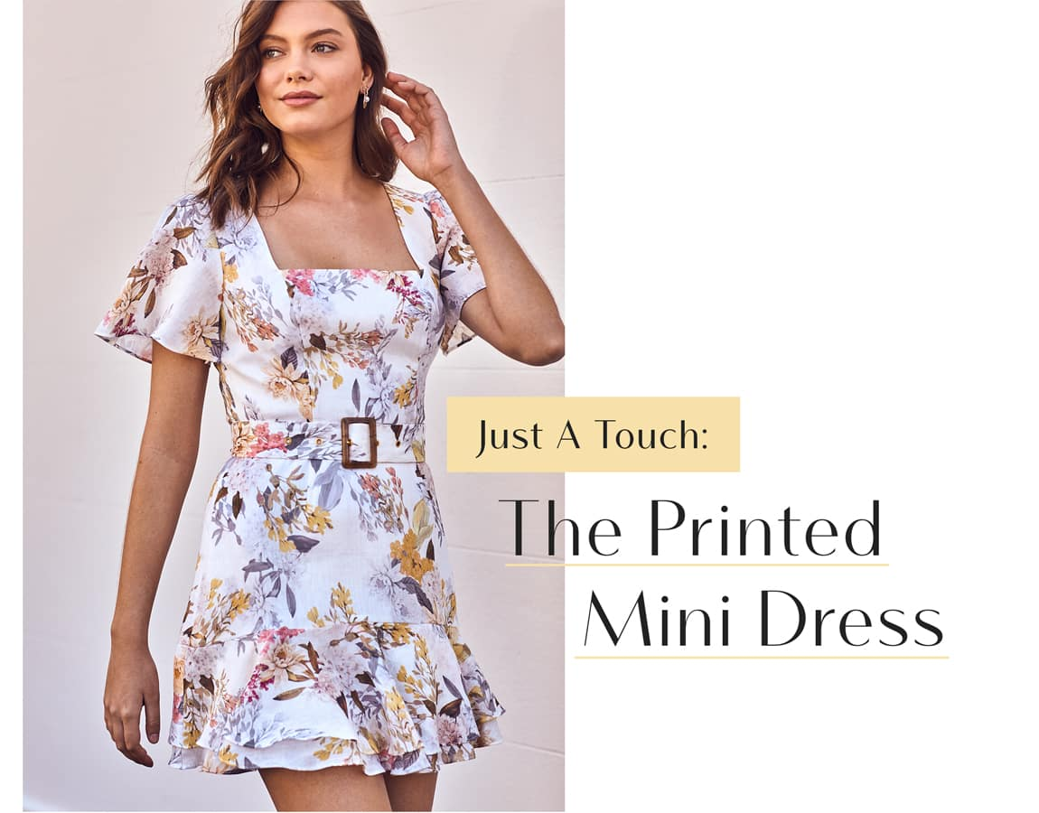 Just A Touch: The Printed Mini Dress