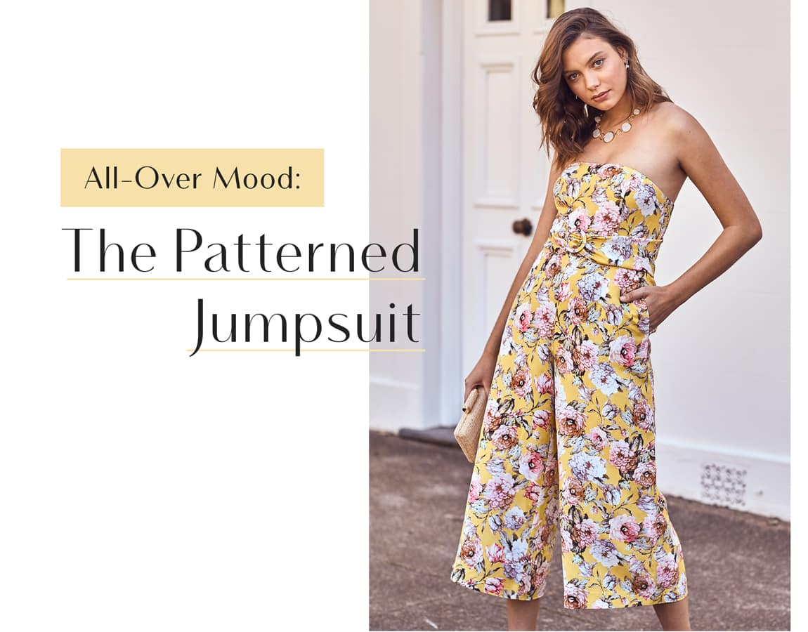 All-Over Mood: The Patterned Jumpsuit