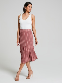 Gia Georgette Fluted Skirt