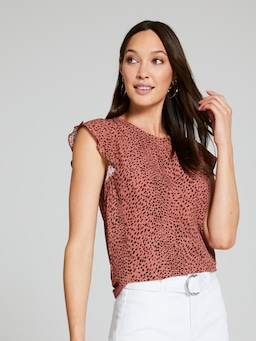 Emma Printed Shell Top