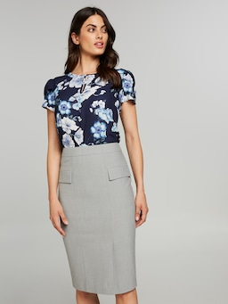 The Leader Grey Suit Skirt