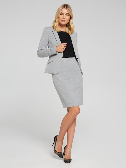 The Hot Shot Grey Suit Skirt