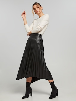 Perfect Pu Midi Skirt
