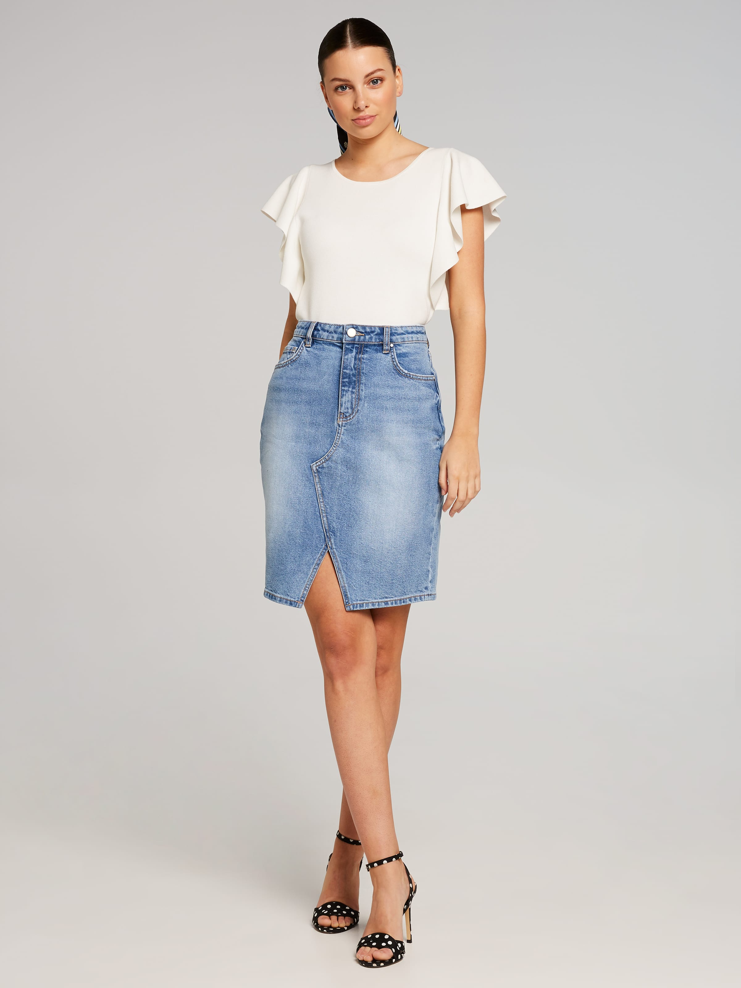 8d3f0a1b833d ... Image for Denim Pencil Skirt from Portmans Online ...
