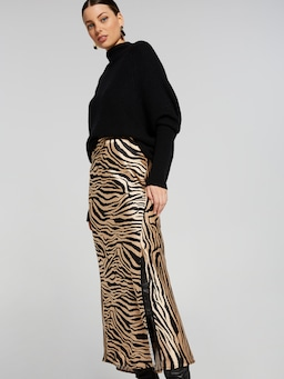 Zebra Bias Skirt