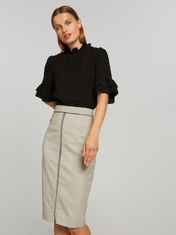 Check And Balances Pencil Skirt