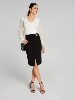 Buckle Me Up Pencil Skirt
