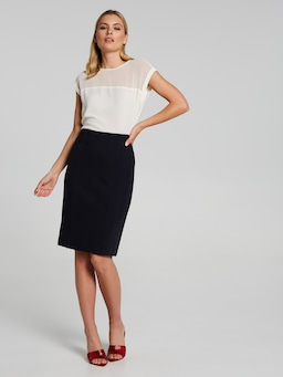 The Houston City Zip Back Skirt
