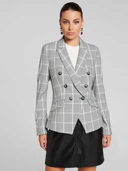 Beating Hearts Check Blazer