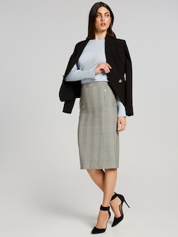 The Aspire Check Skirt