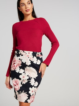 Garden Valley Pencil Skirt