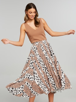 Who In The Zoo Midi Skirt