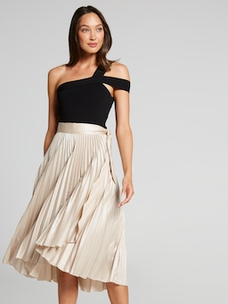See You Saturday Pleated Skirt
