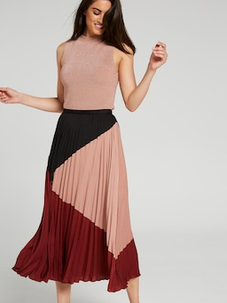 Colour Me In Pleated Skirt