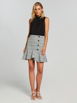 Willow Flip Hem Check Skirt