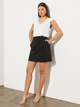 Time Is Now Aline Career Skirt