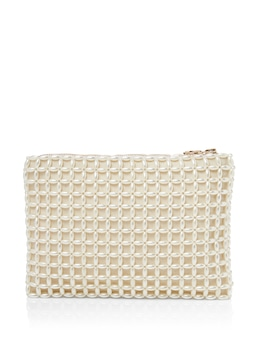 Billie Pearl Bead Clutch