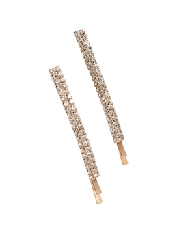 Pave Crystal Hair Pins 2 Pack