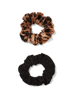 Pleat Scrunchies 2 Pack