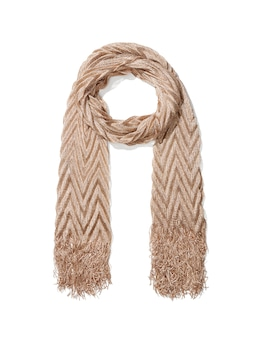 Pleated Metallic Scarf
