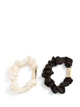 Metal Detail Scrunchies 2 Pack