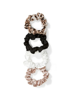 Mini Satin Scrunchies 4 Pack