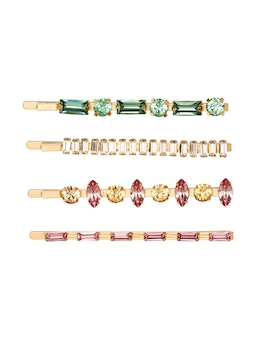 Multi Jewel Hair Pins 4 Pack