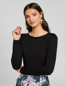 Merino Scoop Neck Top