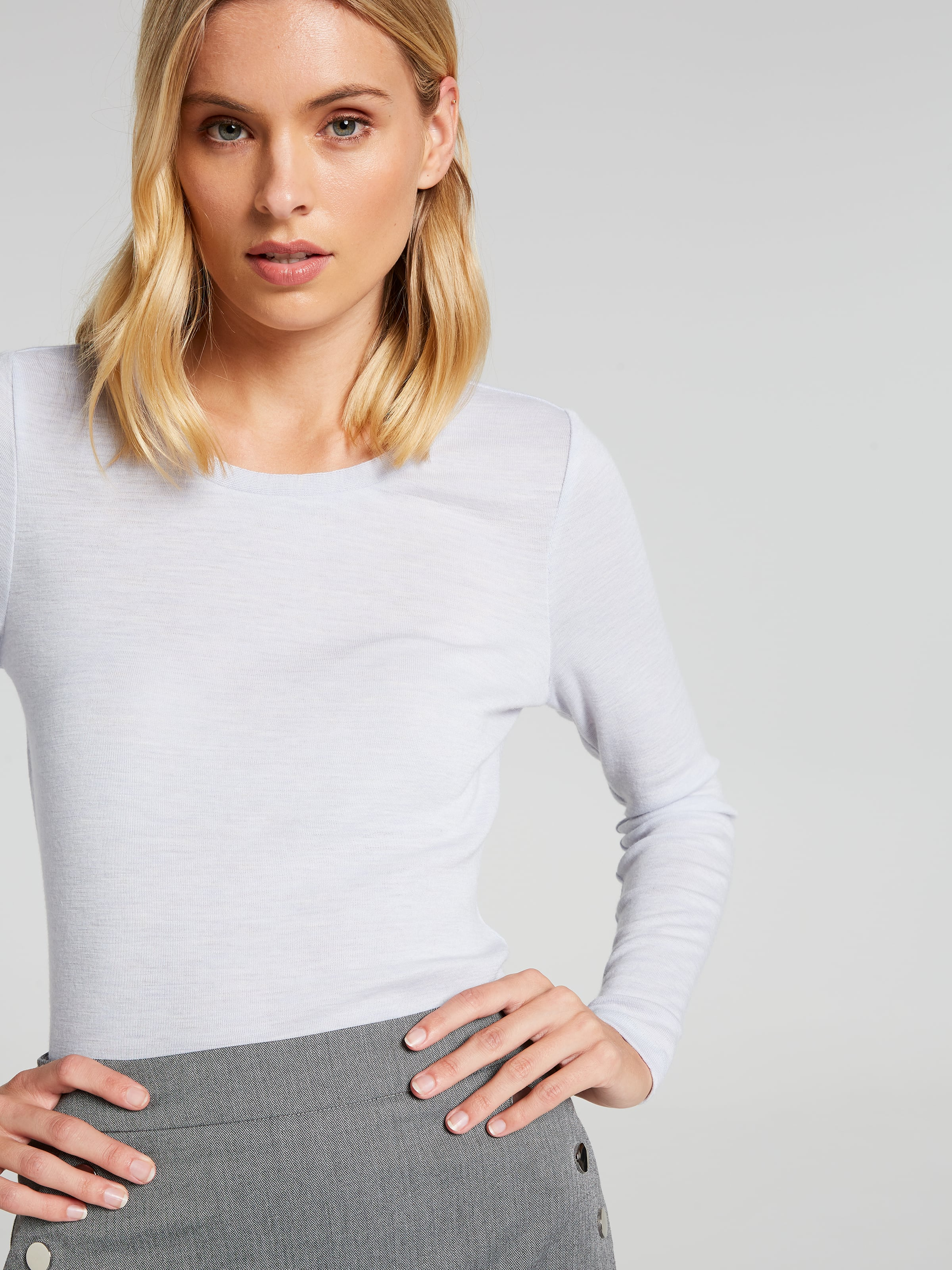 4f25ee5eb6697 Image for Merino Scoop Neck Top from Portmans ...