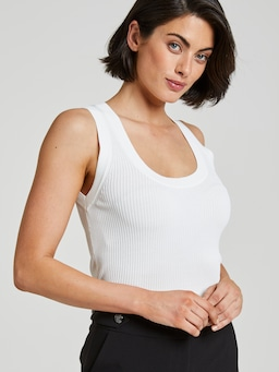 Carly Ribbed Milano Tank