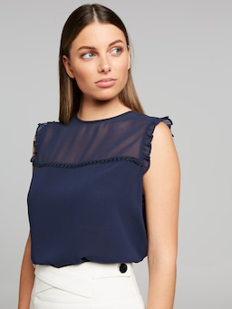 Tilly Splice Lace Top