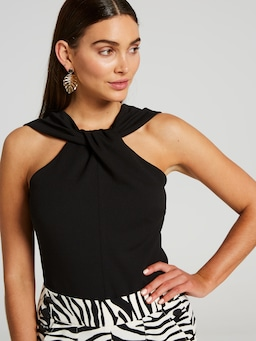 Daisy Twist Neck Top