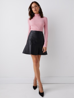 Moss Turtle Neck Knit