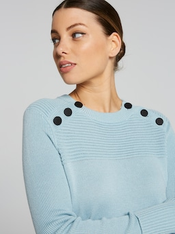 Kayla Double Button Knit