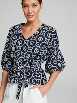 Day In The Sun Broderie Top