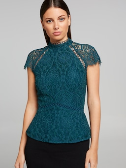 Tres Jolie Lace Sleeve Top