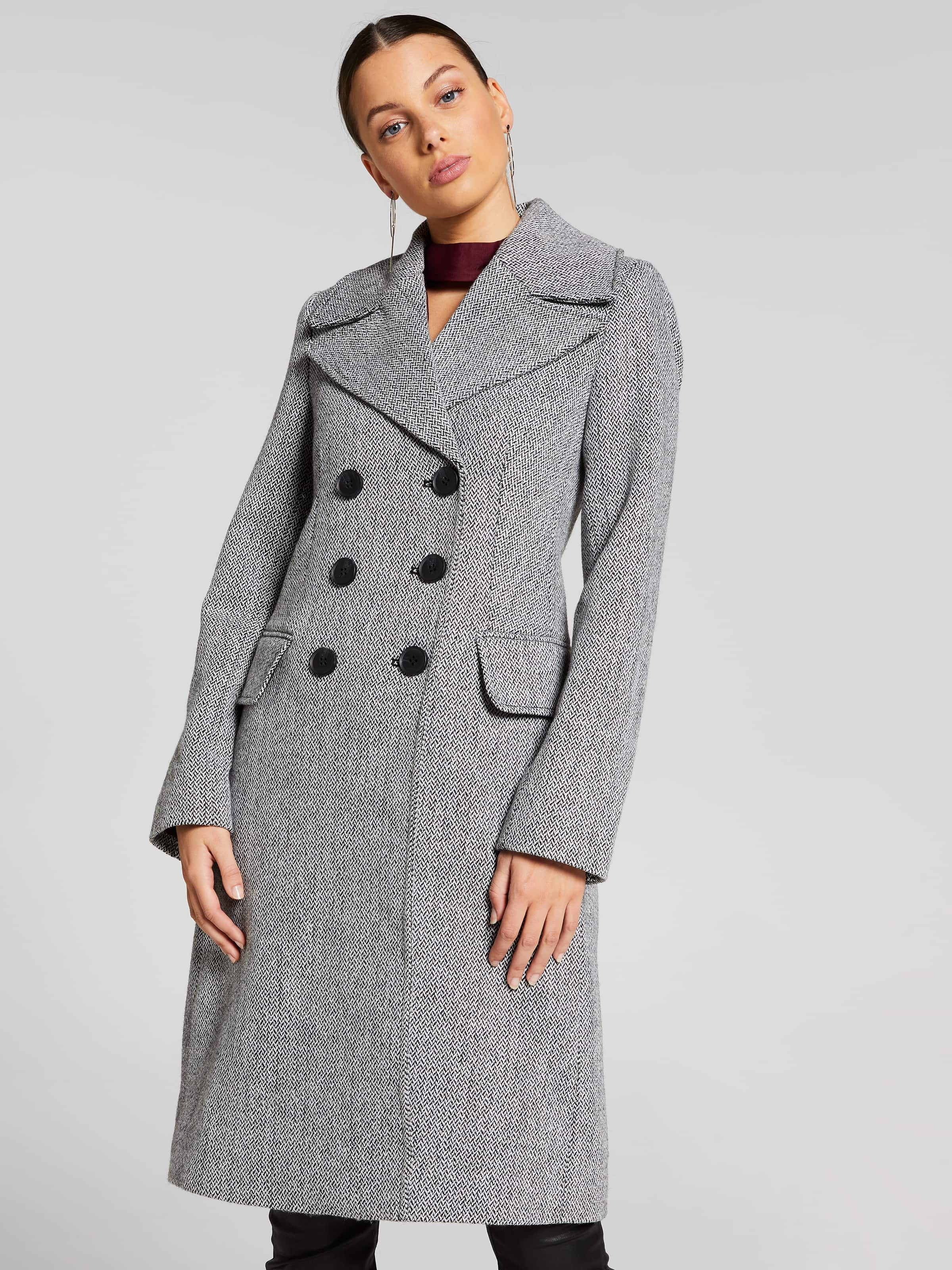 Image of Portmans Australia Portmans Atlantic Herringbone Coat
