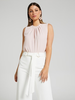 Pia Pleat Neck Top