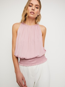 Saint Tropez Shirred Hem Top