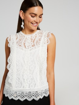 Lana Lace Shell Top