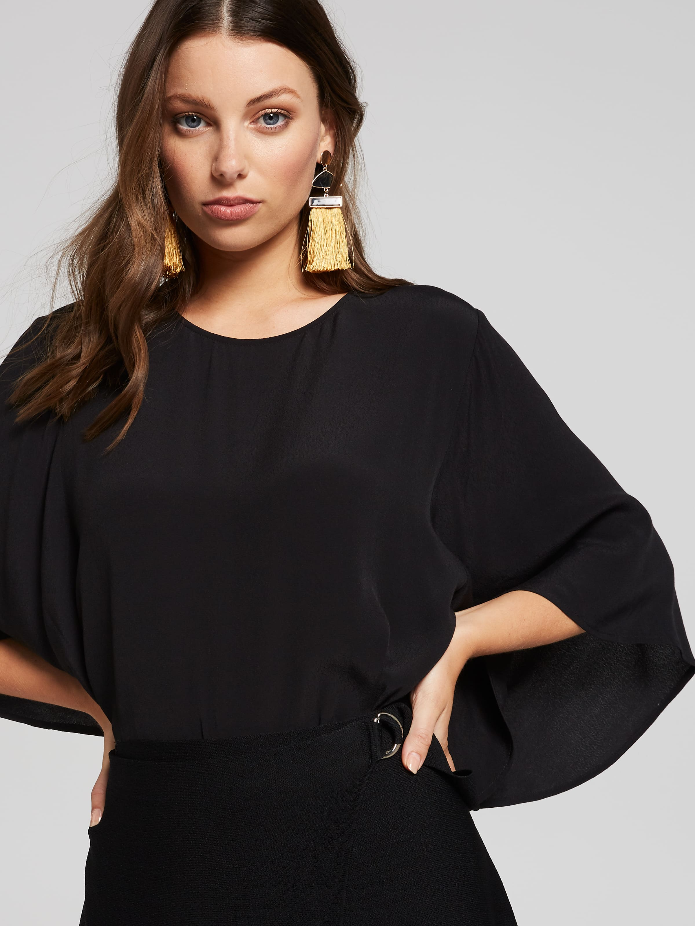 Image of Portmans Australia Portmans Autumn Days Flutter Sleeve Top