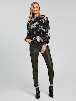 Poppy High Neck Top