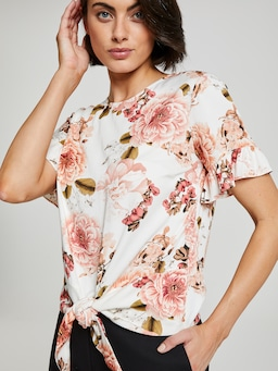 Summer Days Knot Front Top
