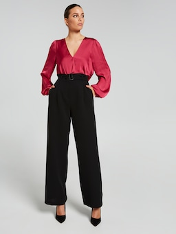 Chelsea Satin Wrap Top