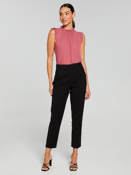 Tessa Solid Gathered Neck Top
