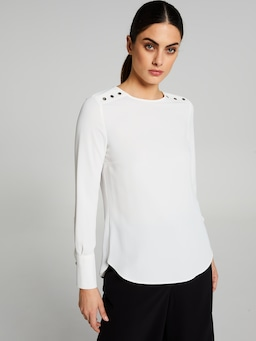 Madrid Button Detail Shell Top