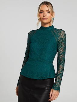 Mon Amour Long Sleeve Lace Top