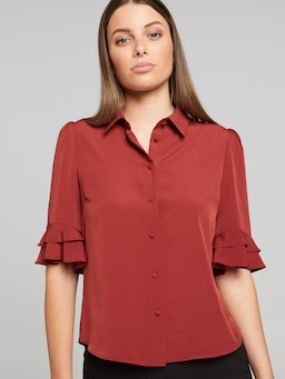 Kayla 3/4 Button Up Shirt